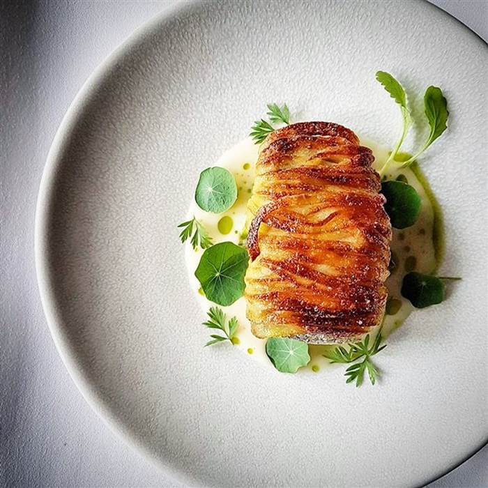 Sea Bass With Fermented White Asparagus Sauce Recipe By Cookniche